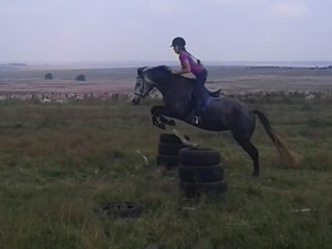 In March in the Solo: flat jumping