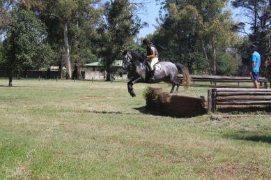 Down banks: Where horses go horizontally forwards and riders go horizontally backwards.